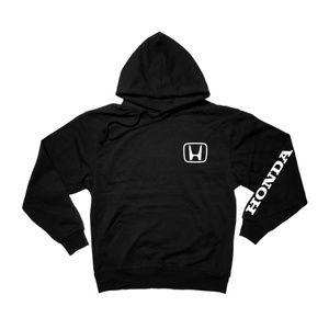 Shirts - Honda Sleeved Black Pullover Hoodie